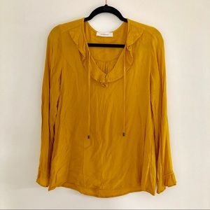 Promod marigold top with flirty details